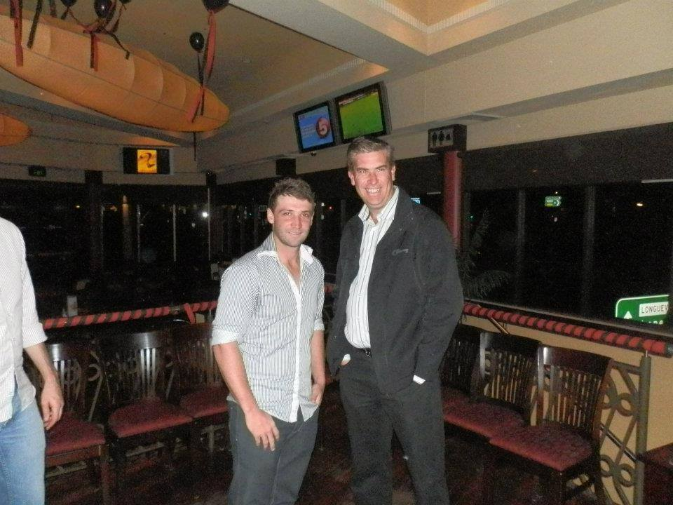 Mitch Whyman with Phillip Hughes
