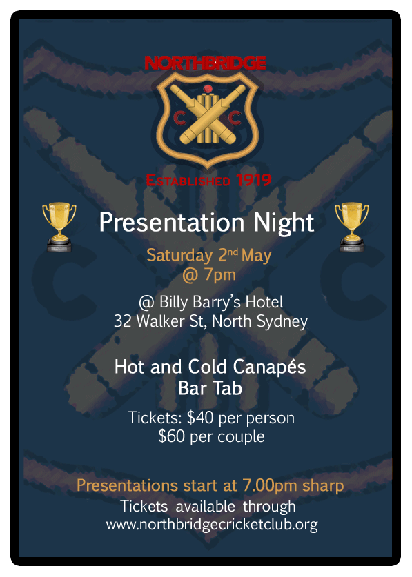 Northbridge CC - 96th Annual Presentation Night.