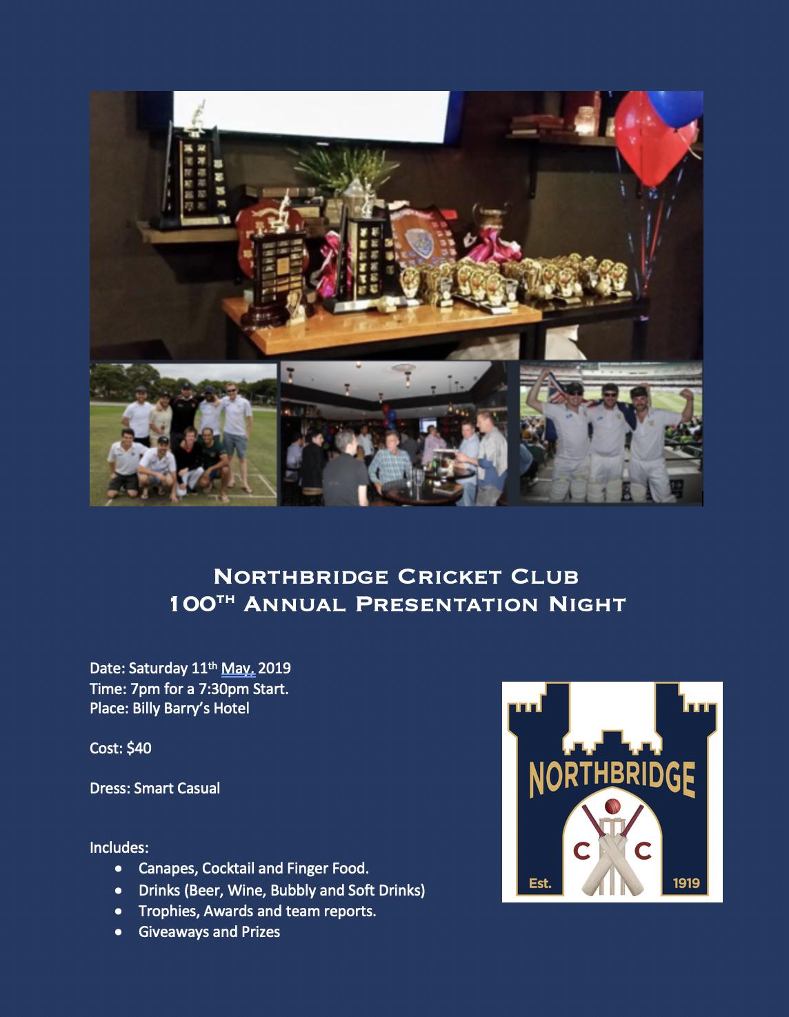 Presentation Night 2018/19 Season